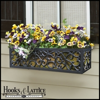 Savannah Aluminum Window Box