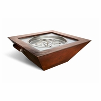 Saxony Hammered Complete Fire Bowl with Water Feature - Electronic Ignition