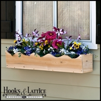 Scalloped Cedar Wood Window Box