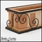 Scroll Window Box Cage with Redwood Liner