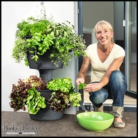 Self-Watering Cascading Vertical Planter