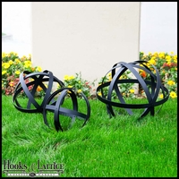 Garden Spheres - Set of 3 powder coated steel