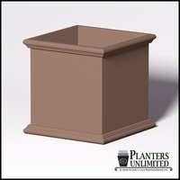 Sienna Fiberglass Commercial Planter 48in.L x 48in.W x 48in.H