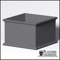 Sienna Fiberglass Commercial Planter 72in.L x 72in.W x 48in.H