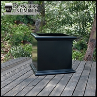 Sienna Fiberglass Commercial Planter 18in.L x 18in.W x 18in.H