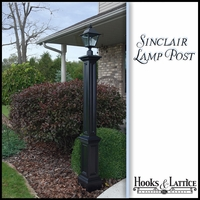 Sinclair Lamp Post with Aluminum Ground Mount- Black