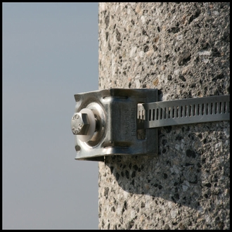Single Bolt Strap Bracket - Large Dia. Poles