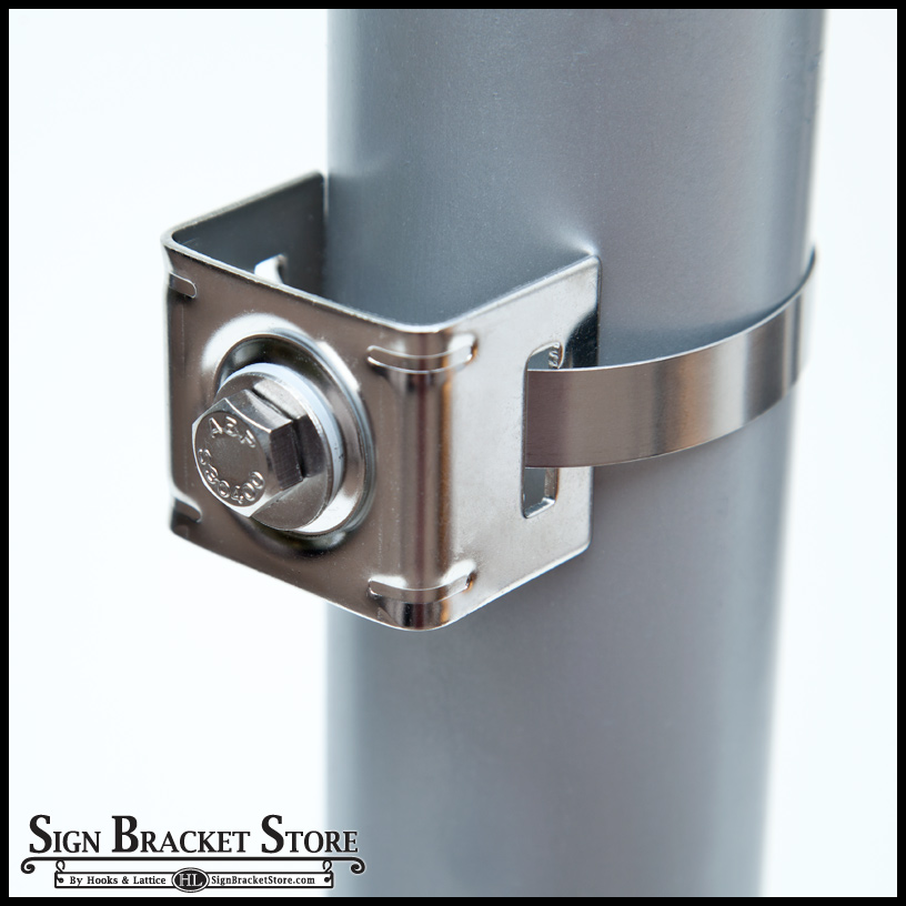 Single Bolt Strap Bracket Small Dia Poles