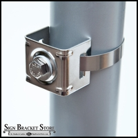 Single Bolt Strap Bracket - Small Dia. Poles