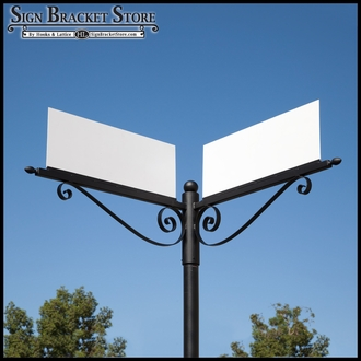 Single Post Sign Brackets
