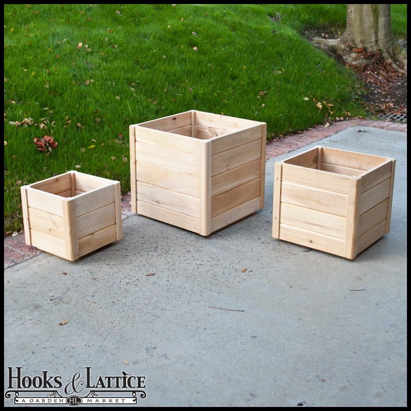 Cedar Wooden Deck Planters Wood Planter Boxes