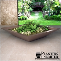 Square Modern Low Bowl Planters