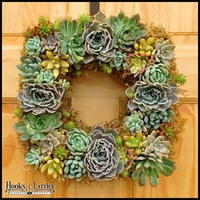 Square Succulent Wreath