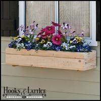 Standard Cedar Wood Window Box