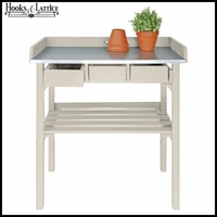 Tall Garden Potting Bench - White
