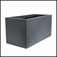 Titan Rectangular Weathered Stone Planter 48in.L x 24in.W x 24in.H