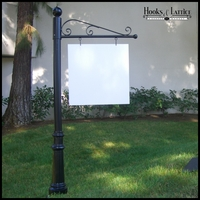 Aluminum Torino Single Post Sign System | 30in. or 40in. Arm Lengths