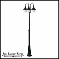 Transitional 3 Light Post Mount Fixture - 120v Powder Coated Cast Aluminum