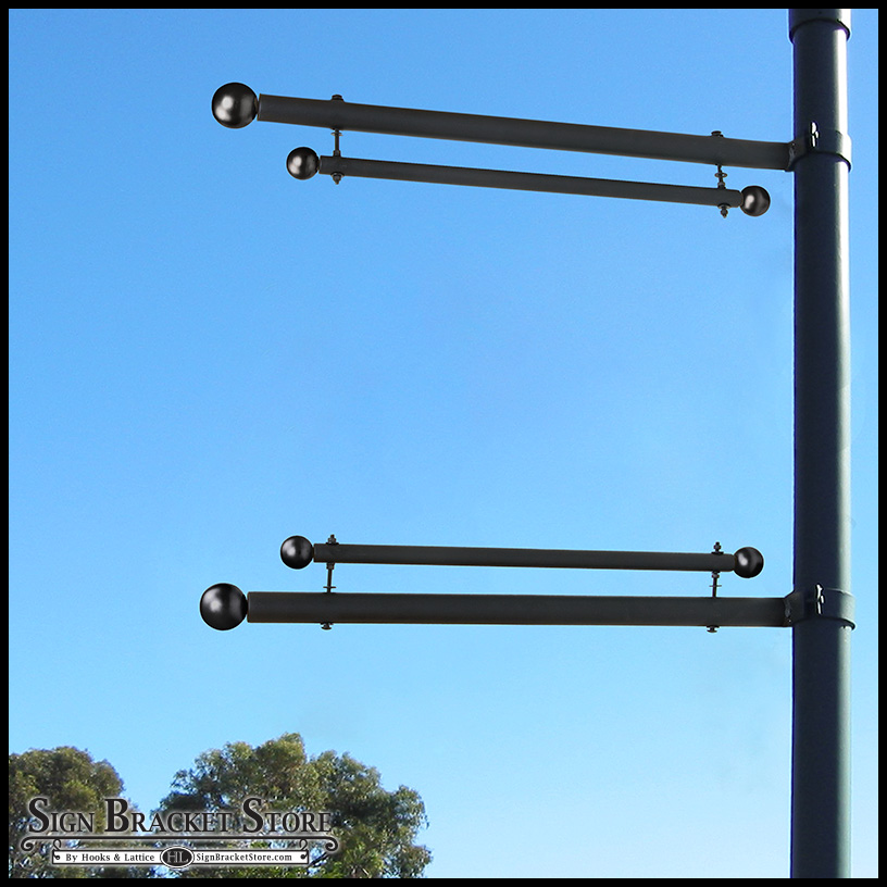 Outdoor Banner Systems Trapeze Style Bracket Sign