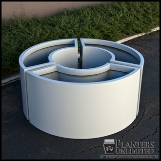 Custom Modern Post Planter