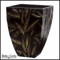 Tropical Fiberglass Tall Square Tapered Planter