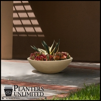 Tuscany Low Profile Low Bowl Planter