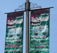 Two-Way Banner Bracket Set with Scroll Artwork