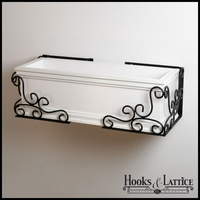 "Universal Scroll Flower Box Holder - 9 1/2"" Pair"