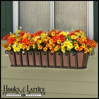 Venetian Decora Window Box w/ Textured Bronze Liner (Hammered Finish)