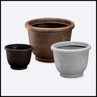 Vera Rolled Top Resin Planters - (3 Colors)