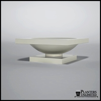 Verano Fiberglass Planter on Pedestal