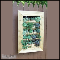 Vertical Cedar Wall Planter (2 sizes)