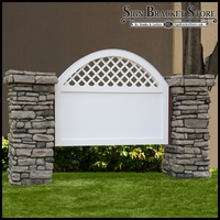 Vineyard Model Monument Sign - Faux Stone -  8ft.L x 4ft.H