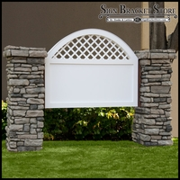 Vineyard Model Monument Sign - Faux Stone - 8ft.L x 5ft.H