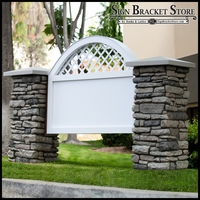 Vineyard Model Monument Sign - Faux Stone & Faux Concrete - 10ft.L x 4ft.H