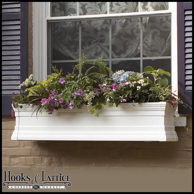 Vinyl Window Boxes Amp Vinyl Flower Boxes Hooks Amp Lattice