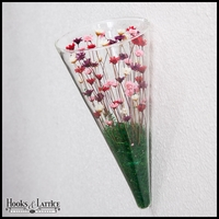 Wall Cone Terrarium with Plants - Red, Pink, White and Purple Flowers