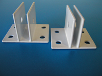 "White- CENTER ""U"" Wall Mount Brackets"