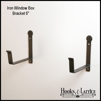 "Window Box Bracket- 6"" Shelf - (Pair)"