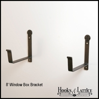 "Window Box Bracket- 8"" Shelf (Pair)"
