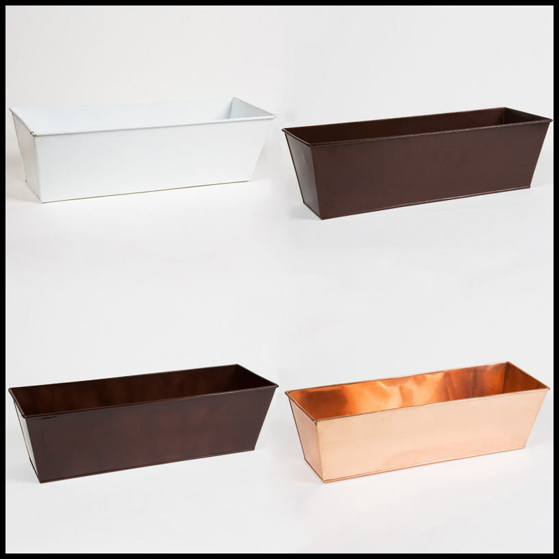 Metal Amp Plastic Window Box Liners Outdoor Planter Box