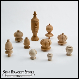 Wood Post Finials & Wood Ball Finials