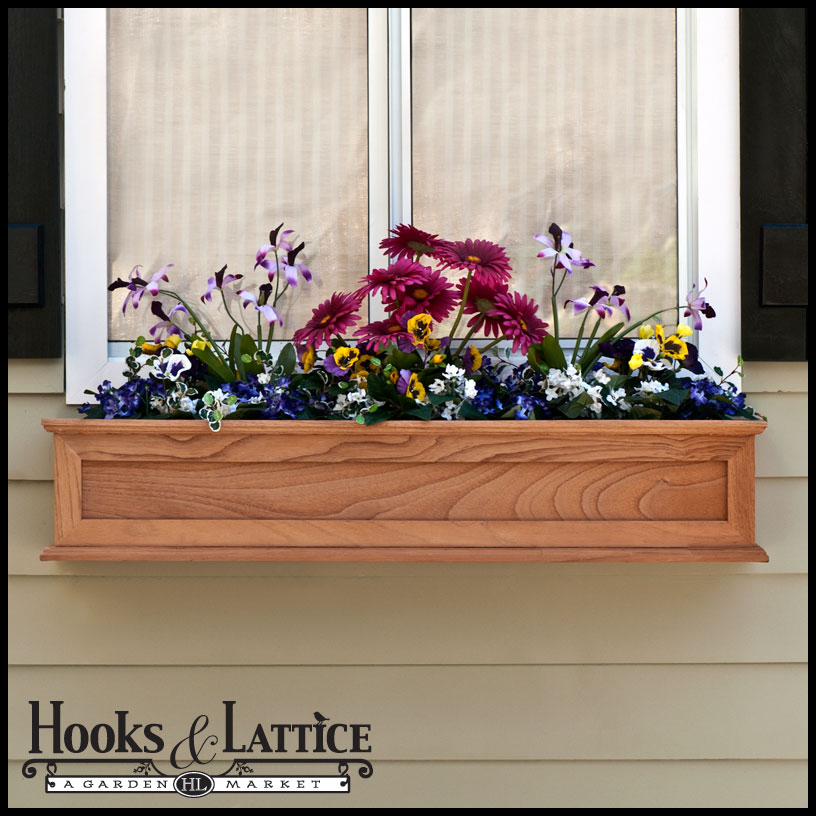 Wood Window Planter Boxes Wood Window Boxes Click to