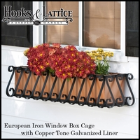 Wrought Iron Window Box Cages