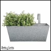 Zinc Rectangular Flower Box Balcony Planter