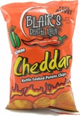 Blair's Jalapeno Cheddar Kettle Cooked Potato Chips, 1.5oz.