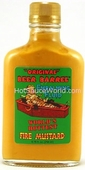 Original Beer Barrel Embalming Fluid Fire Mustard, 10oz.