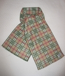 Toy and Teacup Beige Plaid Indoor/Outdoor Scarf