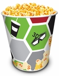 Cinema Theme Popcorn Tubs 130 oz
