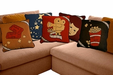 Home Theater Pillows Deluxe Set of 5